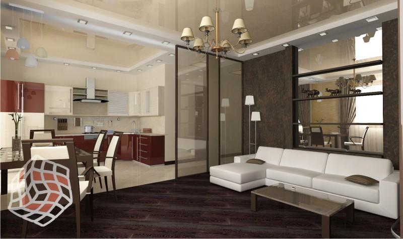 Дизайн проект квартиры в стиле хай тек